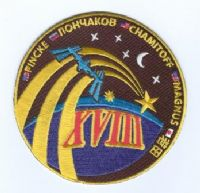 ISS Expedition 18 Embroidered Patch with Crew Names